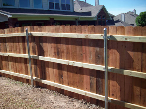 Apple Fence Company Austin TX - Treated Wood Privacy Fence