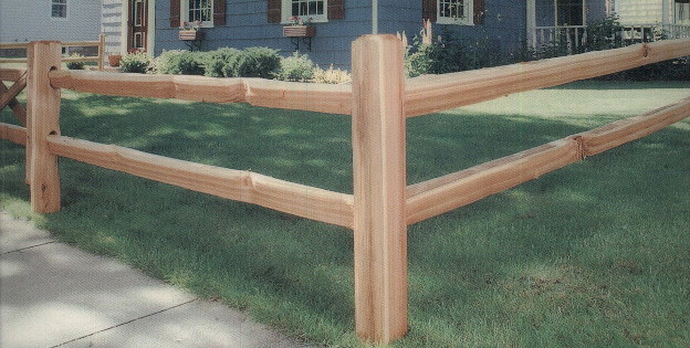 Apple Fence Company Austin TX - Cedar Split Rail Fence