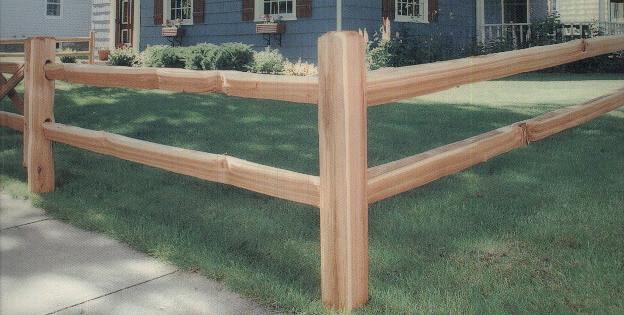 Apple Fence Company Austin TX - Cedar Split Rail Fence