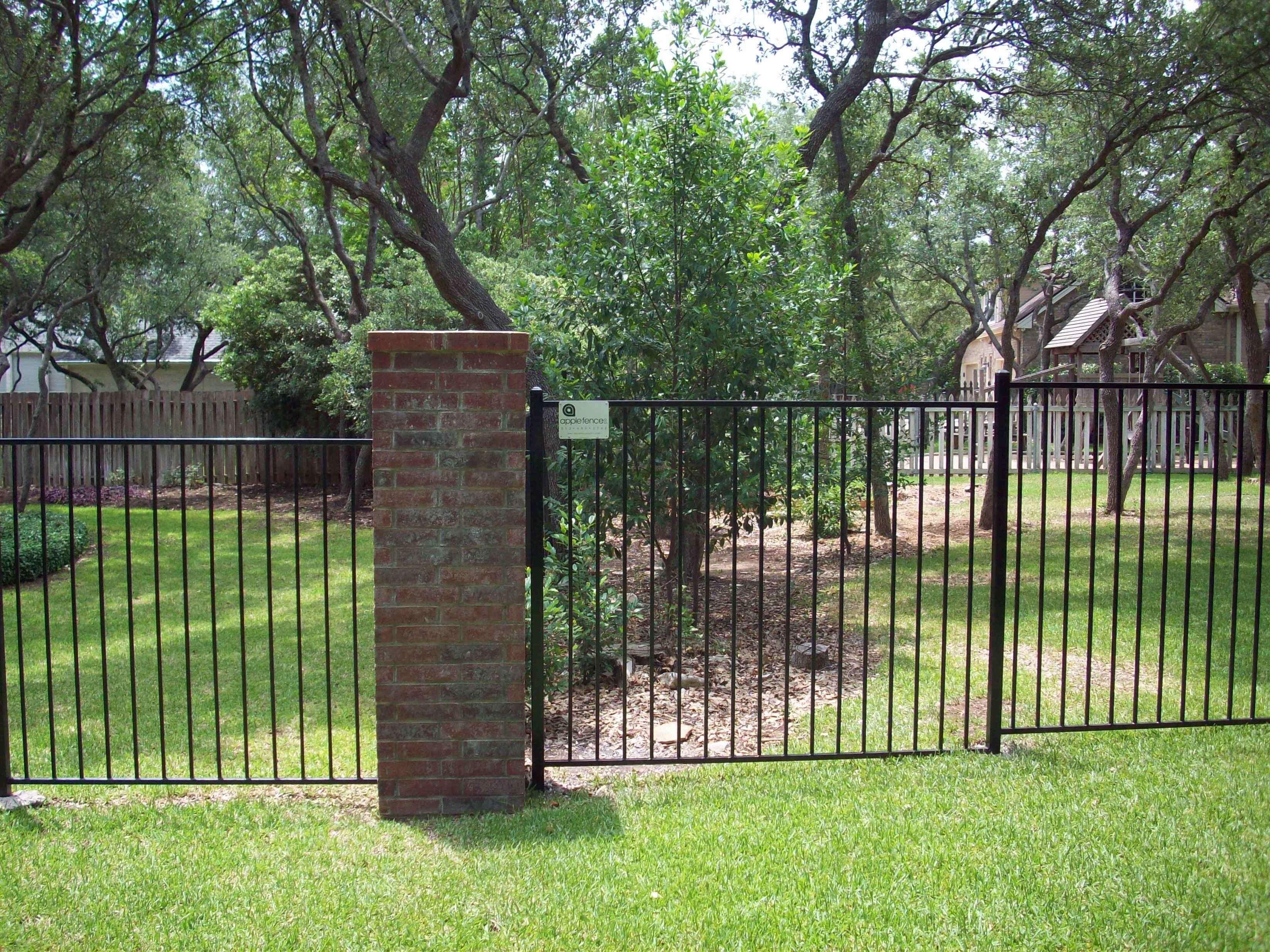 Flat Rail Wrought Iron Fences - Apple Fence Company Austin, TX