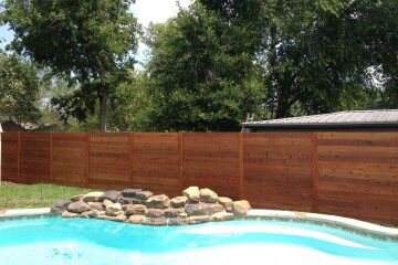 Horizontal Wood Fences - Apple Fence Austin