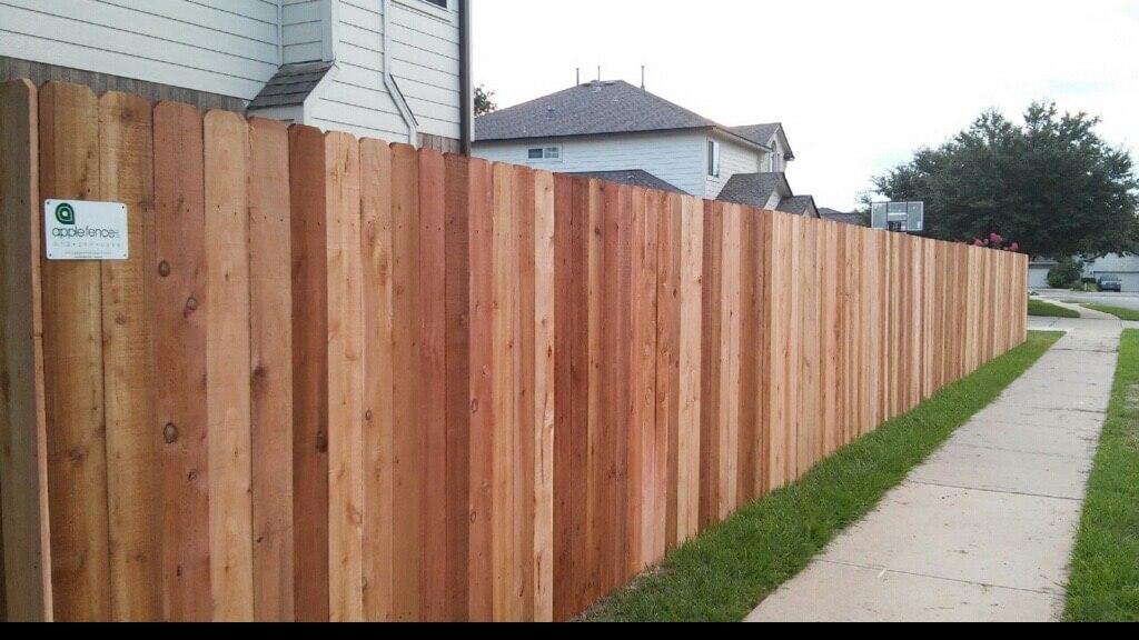 Wood Privacy Fences - Apple Fence Austin